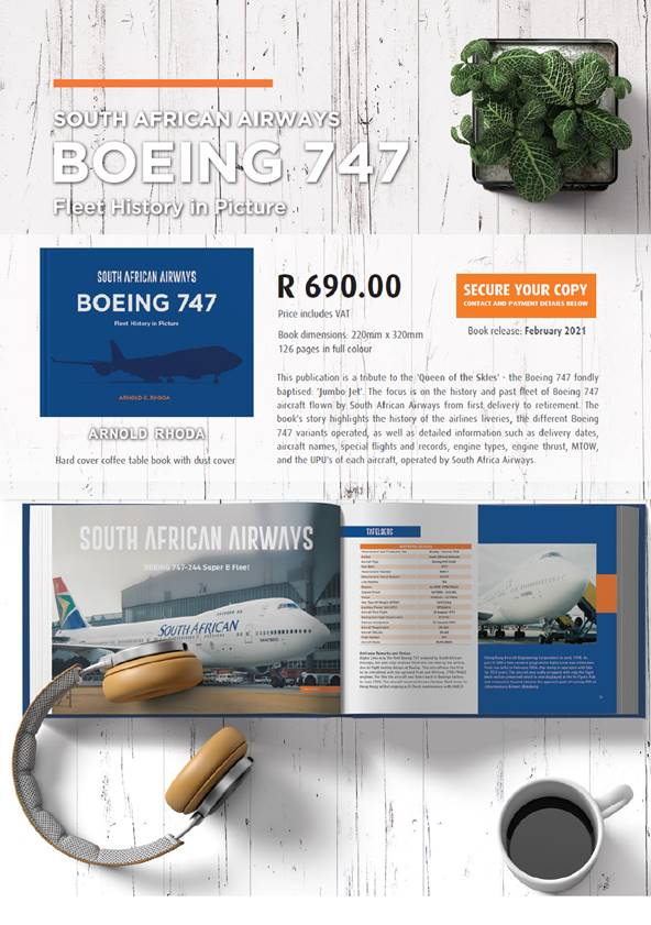 South African Airways Boeing 747 by Author Arnold Rhoda