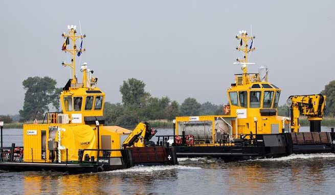 Given the role the Multi Cats will fulfill in keeping the Port of Antwerp clean, it is crucial that their own performance be clean and efficient.