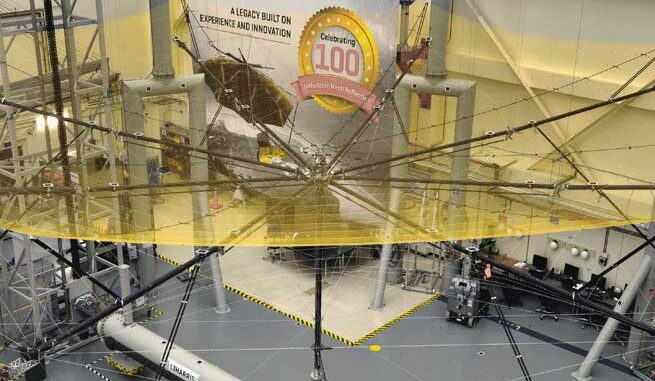 The test, which took place at L3Harris Technologies in Florida who manufactured the 12m wide reflector, was witnessed by representatives from Airbus, ESA and JPL (NASA).